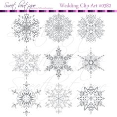 Christmas Snowflakes Snowflake clipart snowlake by MSweetboutique