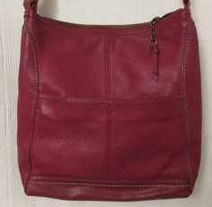 The Sak Red Leather Cross Body Bag