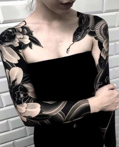 By lupo horiokami sleeve tattoos for women Japanese Sleeve Tattoos, Sleeve Tattoos For Women, Tattoos For Guys, Tattoo Japanese, Black Sleeve Tattoo, Tattoo Sleeves Women, Asian Tattoo Sleeve, Best Sleeve Tattoos, Leg Sleeves