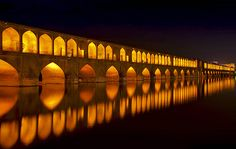 Si-o-Seh-Pol or Bridge of 33 Arches - Isfahan - Iran - JPG Photos