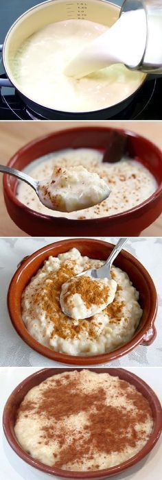 The best rice pudding in the world was magnificent and easy! Mexican Dishes, Mexican Food Recipes, Sweet Recipes, Dessert Recipes, Delicious Desserts, Yummy Food, Gourmet Desserts, Plated Desserts, Colombian Food