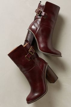 Dark brown leather mid-calf boots with heels are an ideal Fall to Winter staple. Bard Booties by Kelsi Dagger | Anthropologie