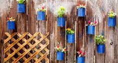 Backyard Tin Can Fence Garden and Trellis