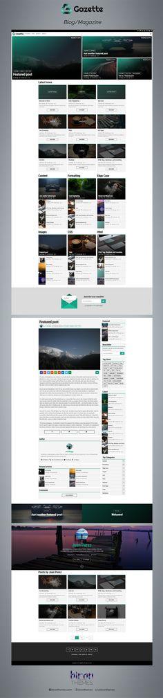 $32 Gazette - a responsive Ghost Magazine and Blog Theme   #ghost #webdesign #blog #magazine #design  Gazette is responsive magazine styled theme for your ghost blog. It is an ideal template for news website or blog.  Gazette is a fully responsive theme, based on the Bootstrap framework.  Demo: http://gazette.bironthemes.com  Buy: https://www.codester.com/items/3440/gazette-responsive-magazine-ghost-theme?ref=bironthemes