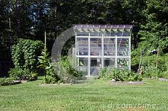 Photo about An image of a small home garden and greenhouse with a lawn. Image of small, vegetable, forest - 75645969 Permaculture, Lawn, Home And Garden, Stock Photos, Image, Grass