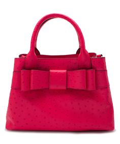 Another great find on #zulily! Kate Spade Desert Rose Charm City Ostrich-Embossed Leather Satchel by Kate Spade #zulilyfinds