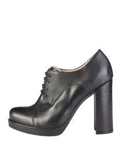 Made in italia - scarpe donna - 100% made in italy - collezione autunno-inverno - stivaletto con lacci con inserti in cu - Stringata donna Nero