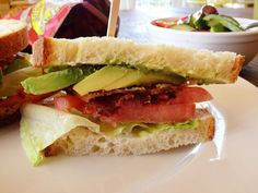 Bacon Lettuce Tomato and Avocado my favorite sandwich ever!!