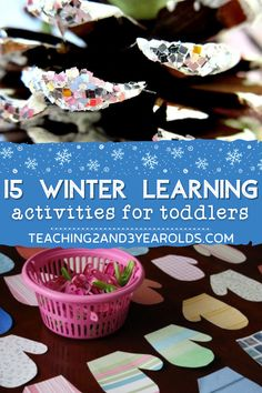Have fun with this assortment of winter learning activities! Can be adapted for toddlers and preschoolers at home and in the classroom. #winter #learning #activities #preschool #toddlers #teaching2and3yearolds Counting Activities, Toddler Learning Activities, Winter Activities, Literacy Activities, Toddler Preschool, Fun Learning, Winter Fun, Winter Theme, Tot Trays