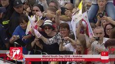 World Youth Day 2016 - Krakow, Poland - 2016-07-28 - Arrival At Jasna Go...