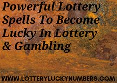 Powerful Lottery Spells To Become Lucky In Lottery & Gambling