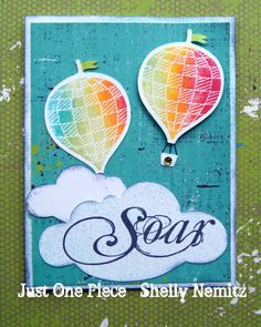 card by Shelly Nemitz using CTMH Later paper Mom Cards, Kids Cards, Card Making Inspiration, Making Ideas, Rainbow Balloons, Scrapbook Cards, Scrapbooking, Cricut Cards, Heart Cards