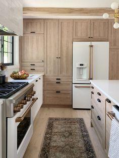 Budget Kitchen Makeover With IKEA Cabinets by Chris Loves Julia Ikea Kitchen Cabinets, Kitchen Redo, New Kitchen, Pantry Cabinets, Kitchen Pantry, Natural Wood Kitchen Cabinets, One Wall Kitchen, Light Wood Kitchens, Soapstone Kitchen
