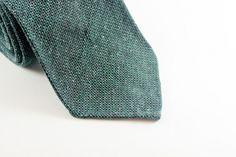 Green Mélange in Silk Wool