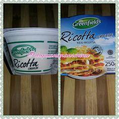Akhirnya mama menemukan keju ricotta juga, nanti mau mama bikin lasagna...😋😋😋😋