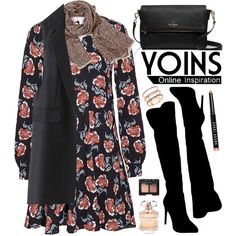 Yoins by oshint on Polyvore featuring Atmos&Here, Kate Spade, EF Collection, Bobbi Brown Cosmetics, NARS Cosmetics, Elie Saab and yoins