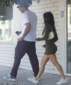 Kourtney Kardashian EXCLUSIVE: Reality star, is back together with Younes Bendjima, Kourtney Kardashian, Younes Bendjima, White Shoulder Bags, Black Sunglasses, Dress Codes, White Sneakers, Capsule Wardrobe, Cool Girl, Celebrity Style