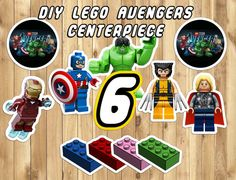 DIY Lego Avengers Centerpiece 12 Characters 4 by InstantBirthday