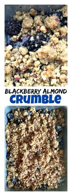 Blackberry Almond Crumble | ReluctantEntertainer.com
