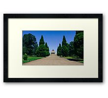 The Long Walk to the Shrine of Remembrance, Melbourne Framed Print