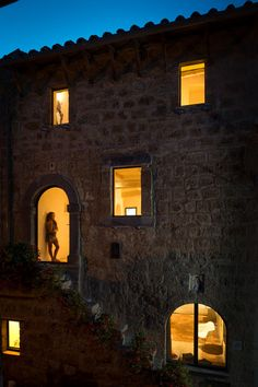 May 2013 Issue - The exterior facade of a residence in Civita di Bagnoregio, Italy
