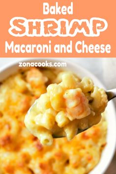 Baked Shrimp Macaroni and Cheese Recipe for Two Seafood Macaroni And Cheese Recipe, Seafood Bake, Grilled Shrimp Recipes, Seafood Recipes, Cooking Recipes, Seafood Pasta, Macroni And Cheese, Shrimp Casserole, Pasta Dishes