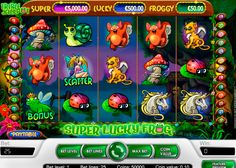 NetEnt's Super Lucky Frog is another brilliant online slot, where you can test your luck and win big prizes. This slot has 5 reels and 25 paylines. Symbols are represented by different creatures from magical forest, and special bonus symbol is represented by the frog, which is wearing a crown. Guess, she is Lucky, Now it's your turn.