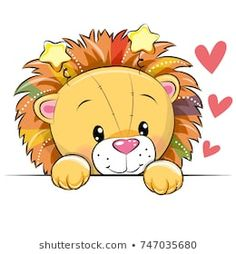 Illustration about Cute Cartoon Lion with hearts on a white background. Illustration of celebrations, computer, design - 103474639 Kids Cartoon Characters, Cartoon Lion, Cute Cartoon Animals, Cute Lion, Belly Painting, Face Painting Designs, Cute Animal Drawings, Drawing For Kids, Cute Illustration