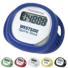 Promotional Simple Shoe Pedometer Item #ARL-WHF-SP12 (Min Qty: 50). Customize your Promotional Pedometers with your company logo and with no setup fees.