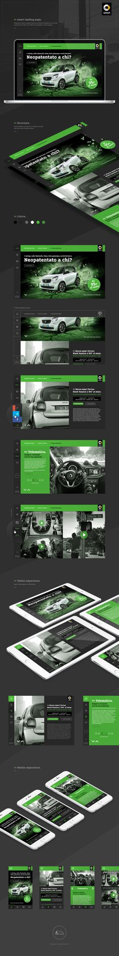 Responsive landing page designed and made for a campaign to offer smart trying to use a fresh design and minimal based on a grid. The colors used are mainly two, the gray in its various shades and green, ecological colors and youth. Navigation is to scroll vertically and there are effects of parallax in some images. Thanks for the attention! Good scroll!