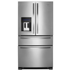$1999 at Home Depot---Whirlpool 24.5 cu. ft. French Door Refrigerator in Monochromatic Stainless Steel