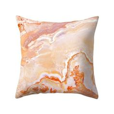 Peach Onyx Marble Throw Pillow by patternmaker Throw Pillow Cases, Throw Pillows, Onyx Marble, Peach, Cushions, Tapestry, Couch Sofa, Design, Poplin Fabric