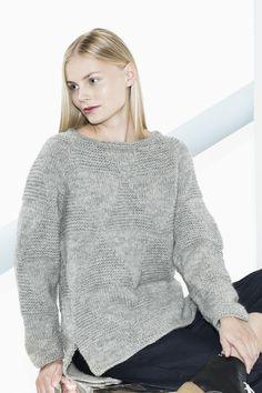 Naisen neulepusero Novita Aava, Novita Talvi 2015 -lehti