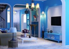 Blue Living Room Decorating Ideas | Living Room Color Schemes Blue Decorating Ideas Living Rooms Blue ...
