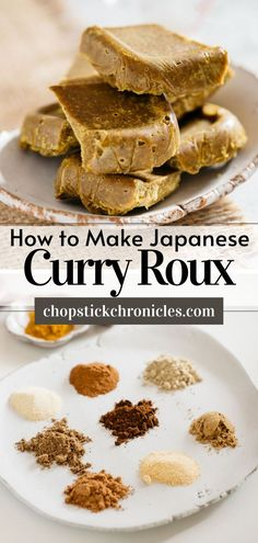 """#Japanese curry roux Homemade Japanese curry roux recipe from scratch. Just like """"Golden Curry"""" roux used to make Japanese curry rice. Step by step photos + instructional video. #Japanese #recipe #homemadejapanese #homemade #howtomakejapanese #diyjapanese #curryrouxrecipe #curryroux #curryrouxjapanese Japanese Meals, Japanese Street Food, Japanese Curry, Japanese Food, Chicken Katsu Curry, Beef Curry, Curry Roux Recipe, Indian Food Recipes, Asian Recipes"""