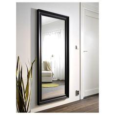 HEMNES Mirror - black-brown - IKEA for above matching dresser Ikea Hemnes Mirror, Ikea Mirror, Affordable Furniture, Unique Furniture, Closet Mirror, Big Mirror In Bedroom, Room Colors, Home Furnishings, Interior Decorating