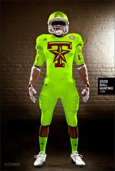 Texas Aggies alternative Adidas uniforms: New Army Neon - Love the color A&m Football, College Football Uniforms, Sports Uniforms, Football Season, Football Stuff, Collage Football, Baseball, Football Reference, 32 Nfl Teams