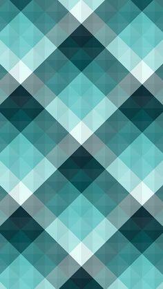 緑のチェック iPhone5壁紙
