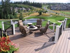 This is Horizon Decking in Tudor Brown by West Coast Decks in Issaquah WA