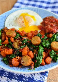 Slimming Eats Actifry Breakfast Hash - gluten free, dairy free, paleo, Slimming World and Weight Watchers friendly Air Fryer Recipes Slimming World, Slimming World Recipes, Breakfast Hash, Paleo Breakfast, Breakfast Ideas, Sin Gluten, Whole30, Slimming World Breakfast, Slimming Eats