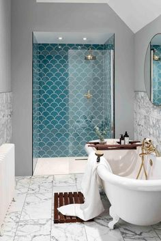 Marble Bathroom Floor, Bathroom Tile Designs, Bathroom Flooring, Bathroom Interior Design, Bathroom Ideas, Bathroom Organization, Shower Ideas, Bathroom Storage, Bathroom Cabinets