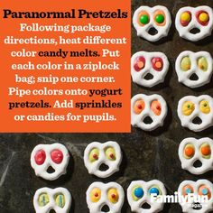 Paranormal Pretzels --- how cute and spooky!