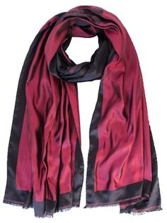 Woman/'s Fashion Fall Scarf-Abstract Floral Print Red italian Modal Scarf