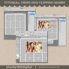 Tutorial: How to use a digital scrapbook template / clipping masks.