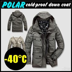 Wholesale cheap mens down jacket product type --40c polar cold-proof men's winter coat hooded duck down jacket nylon outerwear detachable thicken lining nw>2kg size m-xxxl free shipping from Chinese women's down & parkas supplier - linktone on DHgate.com.