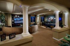 Rooms Family Rooms Basements On Pinterest Basements