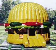 Hamburger Bouncy House - who says adults are too old for this?!
