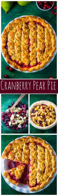 You'll impress everyone with this downright delicious Cranberry Pear Pie! A must bake this holiday season.
