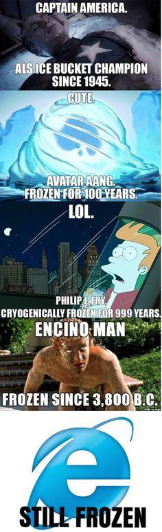 Sometimes, it even froze altogether!