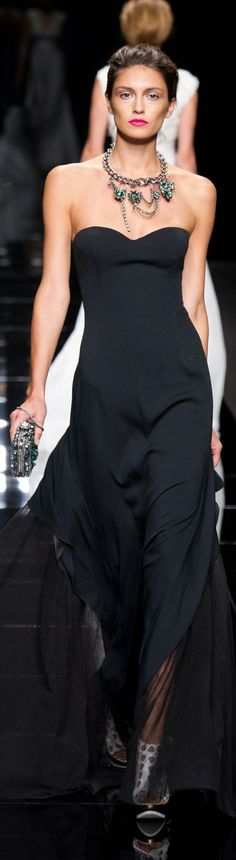 John Richmond Spring 2013.  Gorgeous black evening dress!!